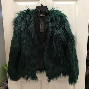 Green Feather Jacket - NWT